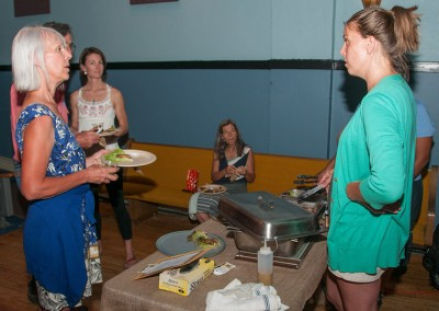 Chef Megan MacMillan (r) with guest